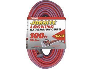 Prime KCPL507835 Red & Blue Jobsite Locking Extension Cord, 100 ft.