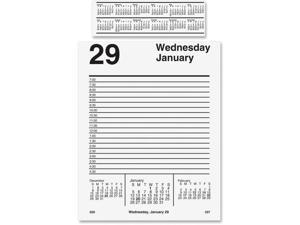 At A Glance AAGE45850 Pad Base Daily Desk Calendar Refill - white