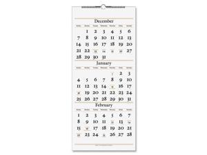 At A Glance AAGSW11528 12 x 27 in. 3-Months Buff Wall Paper Calendar - White