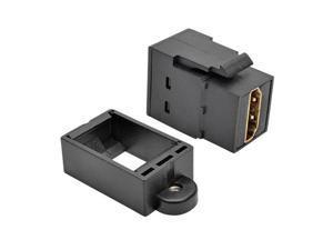 Tripp Lite P164-000-KP-BK HDMI All-in-One Keystone Panel Mount Coupler Female to Female, Black
