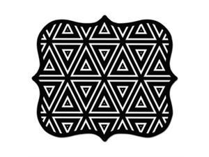Fellowes Manufacturing FEL5919201 Geometric Triangles Mouse Pad - Black & White