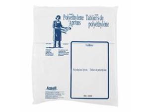 Ansell 012-56-210-28x55 Disposable Polyethylene Aprons, 28 x 55 in., White