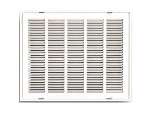 Truaire 190 25X16 Truaire Stamped Return Air Filter Grille  Hinged  25 In. X 16 In.  White