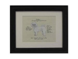 Clapper Hollow HC149 Maltese Puppy Framed Print