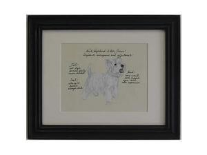 Clapper Hollow HC103 Westie Framed Print