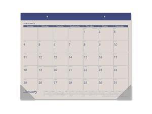 At A Glance AAGSK2517 Monthly Fashion Desk Pad Calendar - Blue