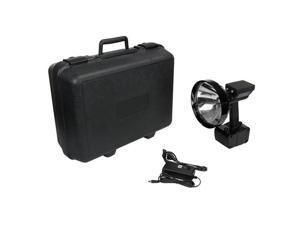 Larson Electronics RL-85-HID-HC-5 15 Million Candlepower Rechargeable HID Pistol Grip Handheld Spotlight with Hard Carrying Case, 5 in. Lens