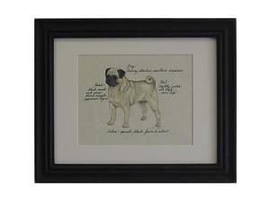 Clapper Hollow HC88 Pug Fawn Framed Print