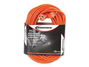 Innovera 72200 Indoor-Outdoor Extension Cord, 100 Feet, Orange