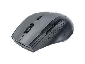 Manhattan 179379 Curve Wireless Optical Mouse, Gray & Black