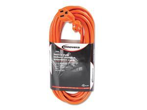 Innovera 72225 Indoor-Outdoor Extension Cord, 25 Feet, Orange