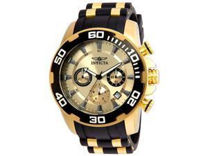 Invicta 886678273713 Mens 22346 Pro Diver Quartz Chronograph Gold Dial Watch