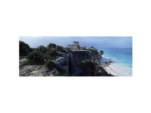 Panoramic Images PPI111105L Castle on a cliff  El Castillo  Tulum  Yucatan  Mexico Poster Print by Panoramic Images - 36 x 12
