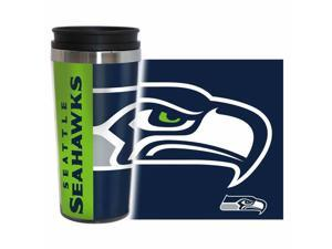 Seattle Seahawks Travel Mug - 14 oz Full Wrap - Hype Style