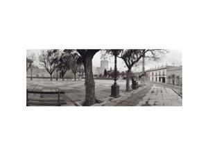 Panoramic Images PPI106322L Trees in front of a building  Alameda Vieja  Jerez  Cadiz  Spain Poster Print by Panoramic Images - 36 x 12