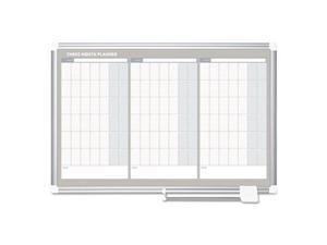 Bi-Silque Visual Communication Products GA03204830 36 x 24 in. Magnetic Dry Erase Calendar Board, Aluminum Frame - Silver