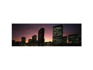 Panoramic Images PPI131114L Buildings at the waterfront  Oakland  Alameda County  California  USA Poster Print by Panoramic Images - 36 x 12