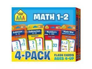 (2 Pk) Math 1-2 Flash Cards 4 Per Pk
