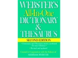 Websters Federal Street Press Book All-In-One Dictionary & Thesaurus 2Nd Edition