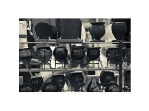 Panoramic Images PPI123629 Mate cups at a market stall  Plaza Constitucion  Montevideo  Uruguay Poster Print by Panoramic Images - 24 x 16