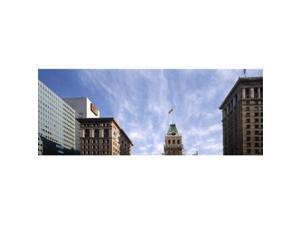 Panoramic Images PPI131115L Buildings in a city  Tribune Tower  Oakland  Alameda County  California  USA Poster Print by Panoramic Images - 36 x 12