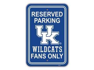 Fremont Die 40294 Kentucky Wildcats 12 x 18 in. Plastic Parking Sign