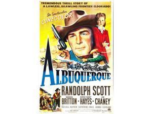 Everett Collection EVCMSDALBUEC001H Albuquerque US Poster Center From Left - Randolph Scott Barbara Britton 1948 Movie Poster Masterprint, 11 x 17
