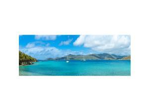 Panoramic Images PPI150300S Island in The Sea Coral Bay St. John US Virgin Islands Poster Print, 27 x 9