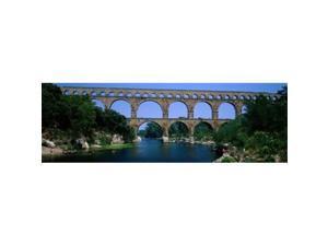 Panoramic Images PPI82433S Pont Du Gard Roman Aqueduct Provence France Poster Print, 18 x 6