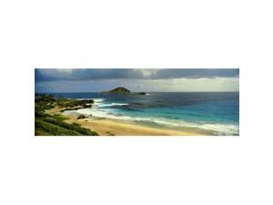 Panoramic Images PPI145642S High Angle View of Surf On The Beach South East Coast Oahu Hawaii USA Poster Print, 27 x 9