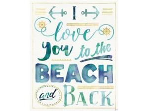 Wild Apple Graphics PDX21089LARGE Coastal Words I Poster Print by Jess Aiken, 24 x 30 - Large
