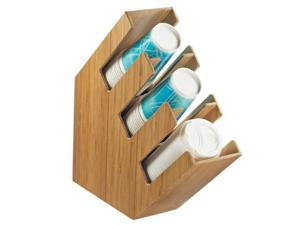 4.5W x 17D x 16.25H 3 Section Bamboo Cup and Lid Holder 1 Ct
