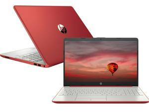 "NEW HP Pavilion 15.6"" HD Laptop Intel Pentium Silver N5000 Quad Core (up to 2.7GHz) 128GB SSD 4GB RAM Windows 10 Red"