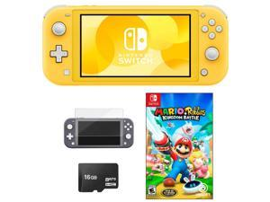 NEW Nintendo Switch Lite 32GB HOT Bundle + Free Game: Mario Rabbids Kingdom Battle +Free Accessories: Screen Protector + 16GB MicroSD Card - Choose COLOR
