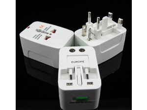 Used globally MX-UC1 Surge Protector All in One Universal Travel Wall Charger AC Power AU UK US EU Plug Adapter