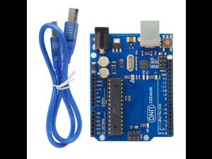 UNO R3 Atmega328p Development Board + USB Cable Compatible with Arduino UNO R3 Mega 2560 Nano Robot / New UNO R3 Rev3 Development Board Atmega328p Atmega16u2 AVR USB for Arduino