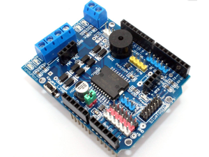 L298P Motor Driver Module H-bridge Drive Shield Board Microcontroller High-Power DC Motor Controller Bluetooth Interface Build in PWM Speed Controller Compatible for Arduino UNO Automotive