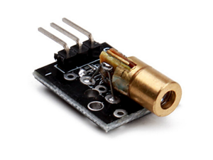 650nm Laser sensor Module 6mm 5V 5mW Red Laser Dot Diode Copper Head Compatible With Arduino by Atomic Market