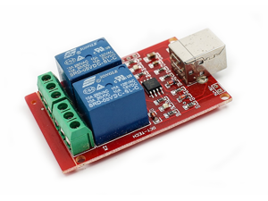 Free drive usb control 2-way 5V 2 channel relay module computer control PC intelligent control