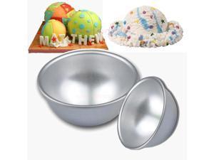 3 Sizes Bath Bomb 3D Ball Half Sphere Cake Pan Baking Decorating Tin Tools Mould (4 X  9.0CM)