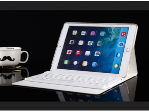 For iPad Air1/Air2 Keyboard + Leather Case, Bluetooth iPad Keyboard Smart Case Wireless Keyboard, Folio Protection & Built-in Stand for iPad Air 1/2