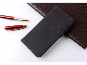 For iPhone 5S Plus Case Genuine Leather Wallet Case Flip Book Design Stand & Credit Card Compartments, Magnetic Closure for iPhone 5S
