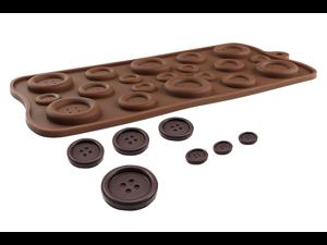 Silicone 19 Hole Size Button Shape Print Ice Cube Chocolate Soap Candy Ice Cake Chocolate Sugar Craft Fondant Decor Mold