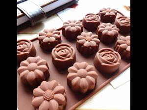 Silicone Chocolate Molds Flowers Shape Cake Candy Mould Jelly Ice Tray Candy Molds, Chocolate Molds, Silicone Molds, Soap Molds, Silicone Baking Molds