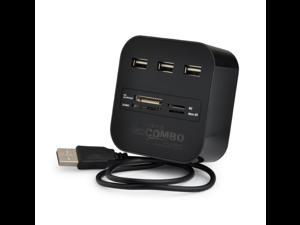 Micro USB Hub USB Splitter All In One USB 2.0 USB Hub Card Reader Combo