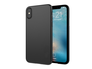 iPhone X Case with Slim Fit Hard Shell and Soft Feel Non Slip Coating Compatible for Apple iPhone X (2017) - Matte Black