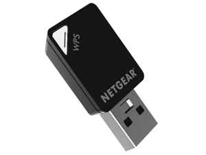 Netgear A6100 (AC600) Dual Band Wi-Fi USB Mini Adapter 5G Wireless Card AC Mini USB Desktop Notebook Wifi Receiver--  without retail packaging-Renovation
