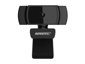 Aoni A20 Full HD 1080P Webcam, Covvy Auto Focus USB Live Streaming Camera with Noise Canceling Microphone for Meeting, Skype, YouTube, Facebook Chatting & Video Recording, Compatible with Windows 10/8