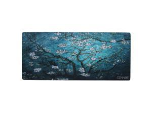 Cennbie Blossoming Almond Tree Rectangle Large Gaming Mouse Pad Extended Oblong Gaming Mousepad Mouse Mat in 895mm*395mm*1.8mm