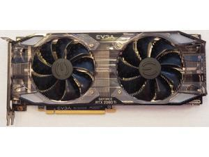 EVGA GeForce RTX 2080 Ti XC GAMING 11GB GDDR6 Dual HDB Fans RGB LED Metal Backplate 11G-P4-2382-KR Video Graphics Card => NO ACCESSORIES!